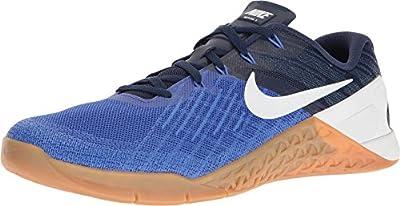 Nike Mens Metcon 3, Paramount Blue / White, 9 M US