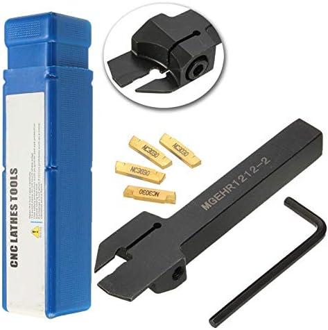 GENERICS LSB-Werkzeuge, 4 stücke MGMN200 Einsatz + MGEHR1212-2 Bohrstangendrehwerkzeug 12 X100mm Einstechen Partting Drehen Werkzeughalter for 2mm Cut
