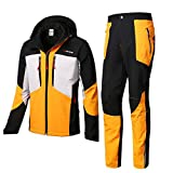 Rain Suits (Rain Jacket and Rain Pants Set), Raincoat for Men Waterproof with Hood Motorcycle Riding Golf Fishing Outdoor Work