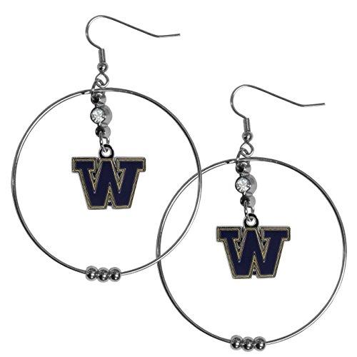 - NCAA Washington Huskies 2 inch Hoop Earrings