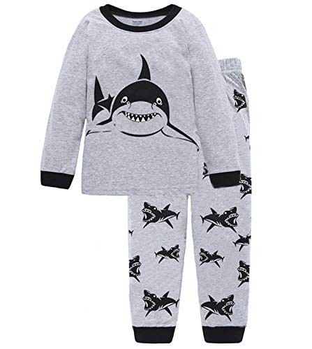 Boys Shark Pajamas Little Boys Toddler PJs Clothes Shirts & Pants Kids Sleepwear Size 5 ()