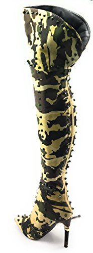 Cape Robbin Mini 33 Womens Dubbade Låret Hög Boot Camo