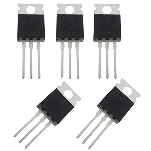 Npn Power Transistor - 5 pcs of MJE3055T MJE3055 10A 60V NPN Transistor for General Purpose and Switching Applications