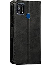 Galaxy M31 Wallet Case, Folio Flip Leather Magnetic Slim Back Cover Card Holder Slot for Samsung Galaxy M31
