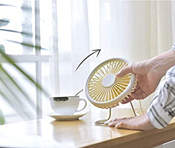 TONGSH Mini USB Fan Color : White Student Dormitory Rotating Cooling USB Computer Mini Small Handheld Cooling Fans for Kids Office Home 3 Speed Noiseless Portable Desk Fan Outdoor