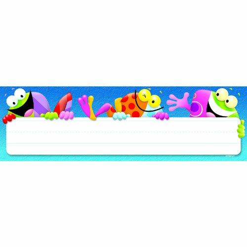 (TREND enterprises, Inc. Frog-tastic! Desk Toppers Name Plates, 36 ct)