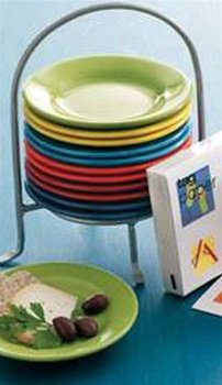 TAG Fiesta Appetizer Plates and Caddy