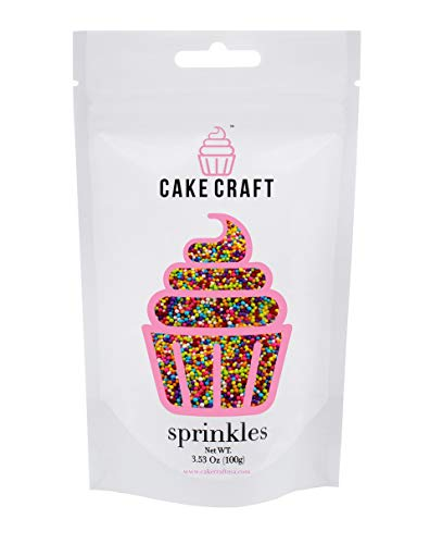 Price comparison product image Cake Craft - Sprinkles - Rainbow Nonpareils - 100g Bag – For Cake Decorating