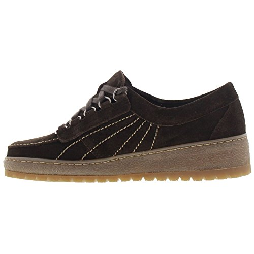 Mephisto Womens Lady Dark Brown Suede Shoes 38.5 EU