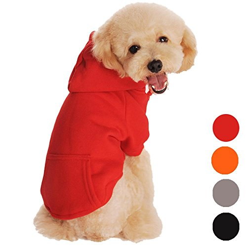 Outtop Pet Costume, Small Dogs dog Sweatshirt Hoodie Coat Shirt Clothes Apparel Accessory for Dog Dachshund, Poodle, Pug, Chihuahua, Shih Tzu, Yorkshire Terriers, Papillon (S, Red)