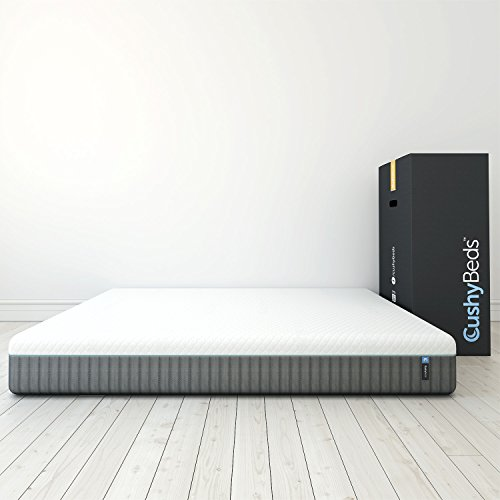 CushyBeds 4-Layer Latex Memory Foam Mattress Built With Premium Materials, Made in USA, King Size (76' X 80' X 10')