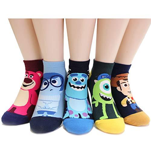 EVEI Cartoon Movies Character Women's Original Socks (D31_5pairs) ()