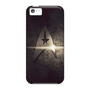Protector Hard Phone Cases For Apple Iphone 5c (XXP29497GHdO) Customized Vivid Star Trek Metal Pattern