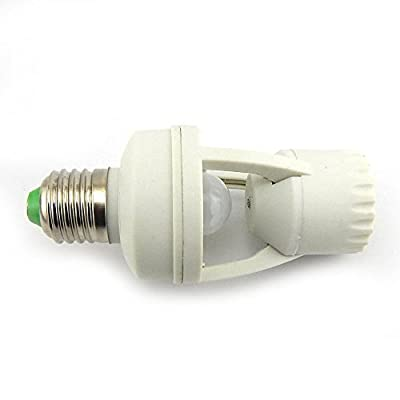 E-Age Ajustable 360 Degree Infrared Motion PIR Sensor Automatic LED Light Lamp E27 Holder Switch