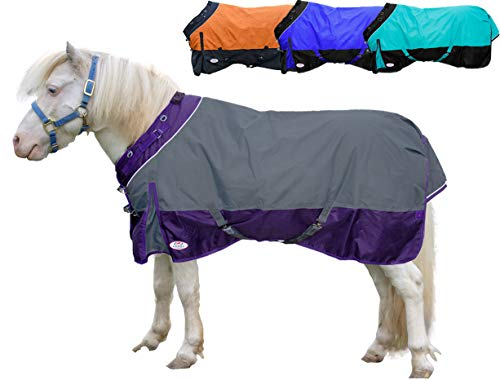 (Derby Originals Windstorm Series Premium Mini Horse and Pony Winter Turnout Blanket with 1200D Ripstop Waterproof Nylon Exterior - Heavy Weight 300g Polyfil Insulation)