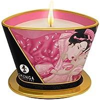 Shunga Vela de Masaje Aphrodisia, Aroma de Rosas