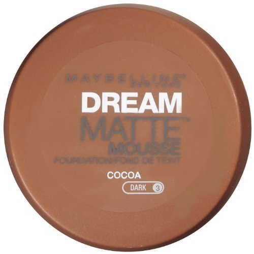 Maybelline Dream Matte Mousse Foundation, Cocoa, Dark [3], 0.64 oz (Pack of 2)