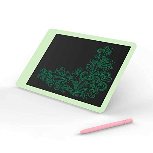 LCD Writing Board Tablet, Xiaomiyoupin Wicue 10-inch Screen Write Electronic Writing Board Graphic Pad Digital Drawing for Kids Office One Button Erase(Green)