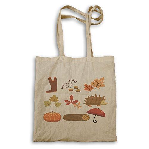 Süße Herbst-Elemente Tragetasche r576r
