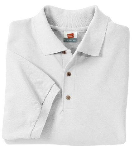 Men's 7 oz Hanes STEDMAN Cotton Pique Polo Ash S