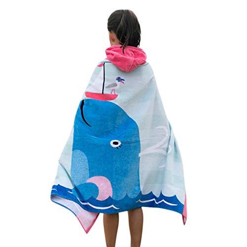 (Drindf Baby Clothes Kids Hooded Beach Bath Towel Super Soft Childrens Towel Swimming Girls Boys Thicken Cloak)