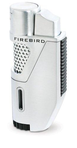 Firebird Rocket Lighter Single Jet Torch Flame - Silver