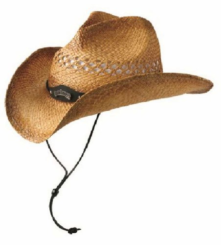 Jack Daniels Men's Daniel's Natural Raffia Straw Cowboy Hat Natural M/L]()