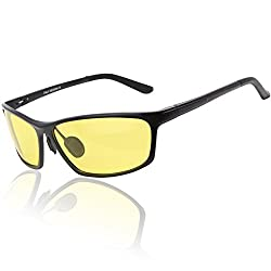 Duco Night-vision Glasses For Headlight Polarized Driving Glasses 2179 (Black Frame Yellow Lens )