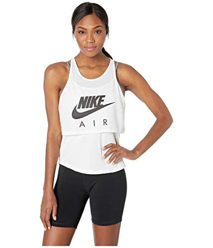 Nike Mesh Tank Top - Nike Air Women's Mesh Running Tank Top (S, White)