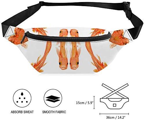 金魚 ウエストバッグ ショルダーバッグチェストバッグ ヒップバッグ 多機能 防水 軽量 スポーツアウトドアクロスボディバッグユニセックスピクニック小旅行