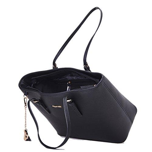 Shoppping Borsa VALLEVERDE Donna Ecopelle Nero, nuova collezione autunno inverno 2017/2018