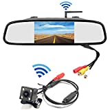 Hikity Backup Camera Wireless Rear View Mirror Monitor Kit Parking Assistance System 4.3