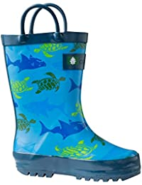 Kids Rubber Rain Boots With Easy-On Handles | Earthy...