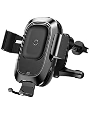 Baseus Infrared 10W Wireless Car Charger For iPhone XS XR Xs Max Fast QI Wireless Charger Air Vent Mount Car Phone Holder Stand black