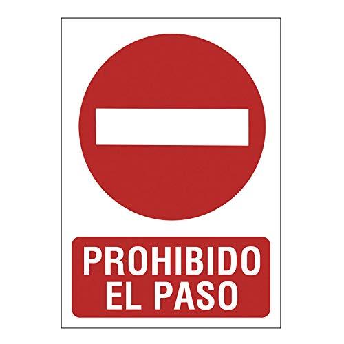 Se/ñal 210X297 Pvc Prohibido El Paso 2349B5
