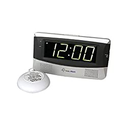Sonic Alert SB300 Sonic Boom Loud Vibrating Alarm Clock with Large Display by Sonic Alert