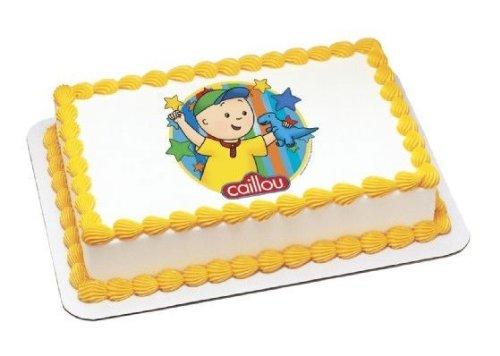 Wondrous 1 4 Sheet Caillou Dinosaur Birthday Edible Image Cake Cupcake Funny Birthday Cards Online Alyptdamsfinfo