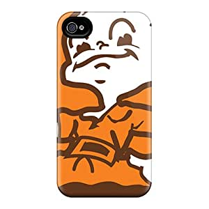Protective Cell-phone Hard Covers For Iphone 6plus With Custom Lifelike Cleveland Browns Image SherriFakhry
