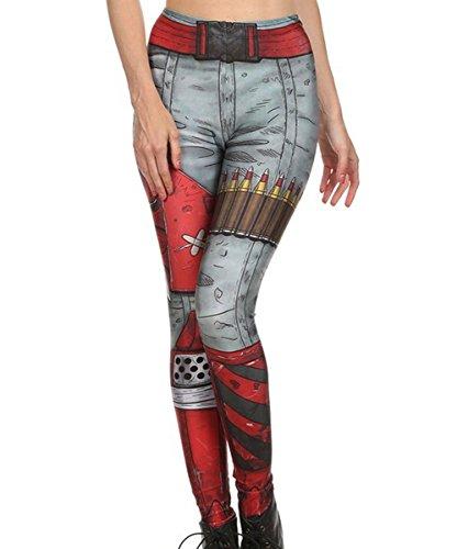 (Mosszra Soldier Ammo Belt Digital Print Fashion Tight Long Pants Leggings)