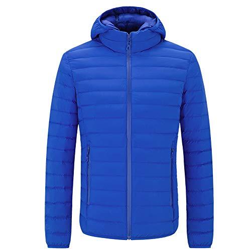 Outwear Outwear Outwear Uomo Uomo Uomo Uomo Cotone Zolimx con Cappotto blue Giacca Moda Cappuccio Cappotto Colore Giacca Inverno Cotone Tasca Blu Uomini Puro Ispessito Uomo BaawSq