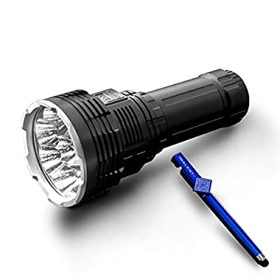 IMALENT DX80 8pcs CREE XHP70 2nd generation LEDs 32000lm most powerful flood LED flashlight for searching, rescue and Night fishing