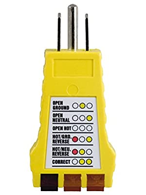 Power Gear 3-Wire Receptacle Tester, 50542