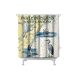 41M-VFWnbsL._SS300_ 200+ Beach Shower Curtains and Nautical Shower Curtains