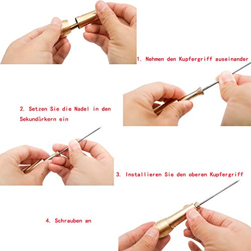 S-Mechanic Häkelnadeln-Set,14 Stück Volle GrößE (2mm-10mm) Häkelnadeln Stricknadeln aus,Aluminium Häkelnadeln Stricknadeln Weben Nadeln Häkelhaken Set (Style 1)