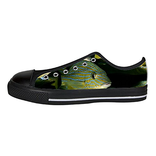 - Custom Ocean Fish Womens Classic High Top Canvas Shoes Fashion Sneaker