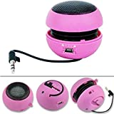 Wired Portable Loud Speaker Pink Multimedia Audio System w Built-in Battery Compatible with LG V40 ThinQ