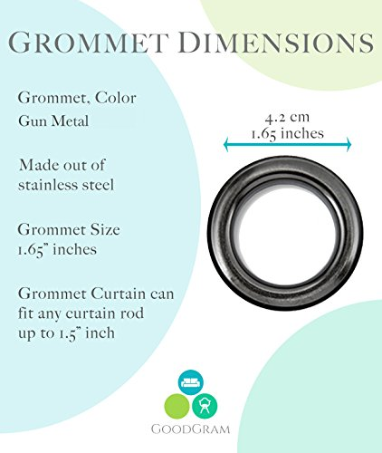 GoodGram 2 Pack Semi Sheer Ombre Chic Grommet Curtain Panels Assorted Colors