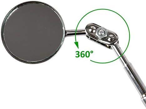 Specchietto Universale per Riparazione Auto per saldature e ispezioni Pieghevole CXJUN telescopico