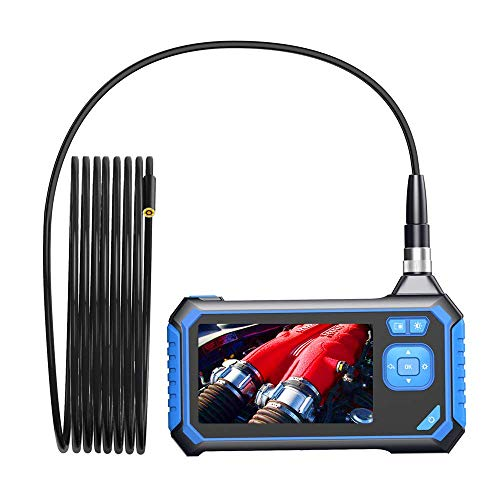 (Industrial Endoscope,SKYBASIC Digital Borescope 4.3 Inch LCD 1.6-198inch Focal Distance Snake Camera 1080P HD 2600mAh Video Inspection Camera with 8GB SD Card(16.5FT))