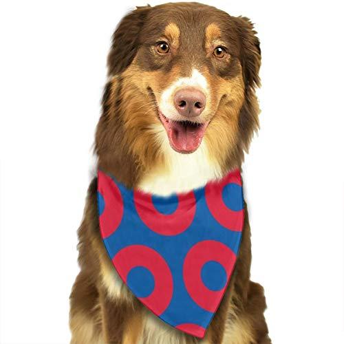 FortniteCOM Dog Bandana Phish Circles Triangle Bibs Scarf Printing Kerchief Set Accessories Dogs Cats Pets ()